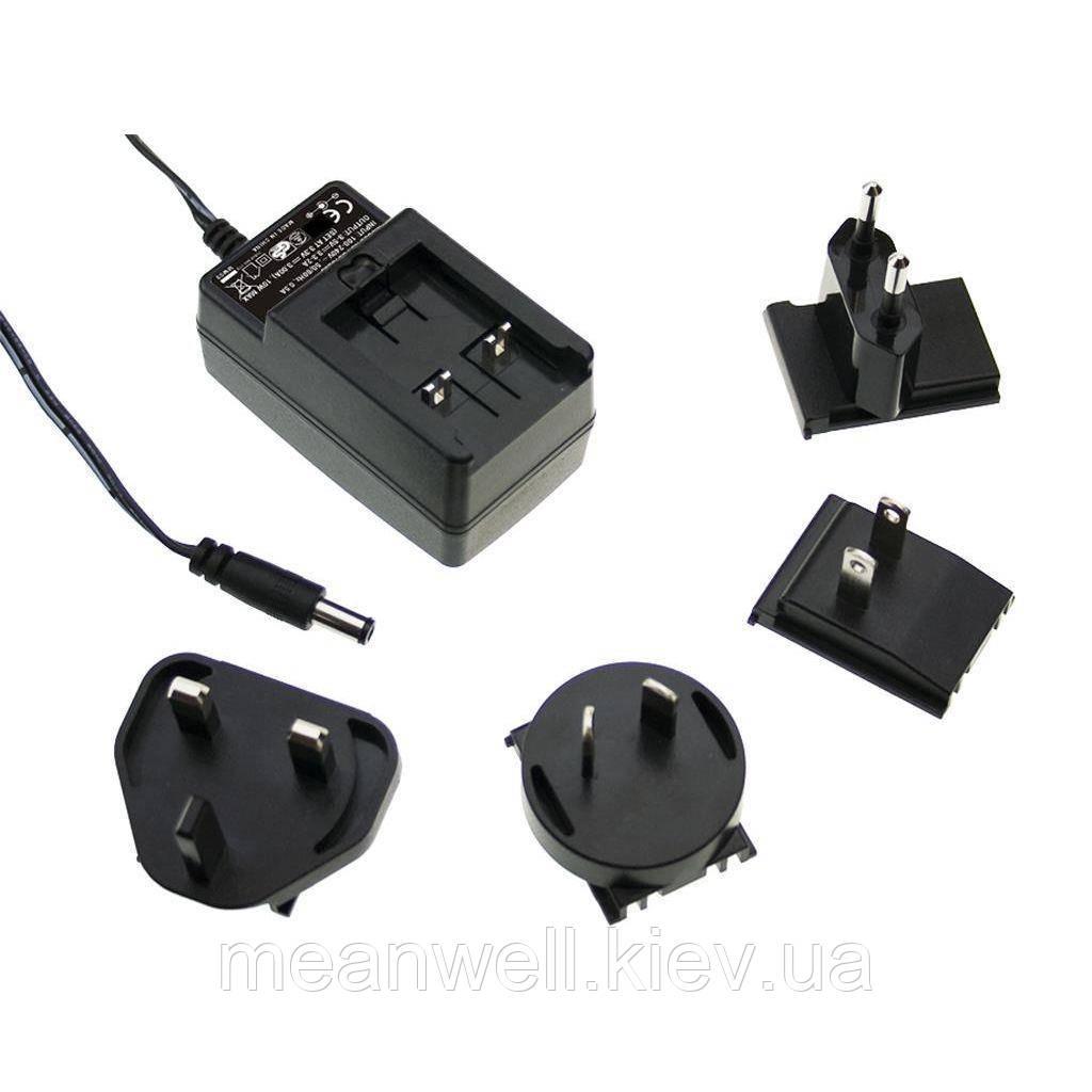 GE12I05-P1J AC DC адаптер питания 5В, 2А Mean Well
