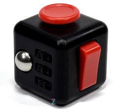 Кубік-антистрес Spinner Fidget Cube Чорний, фото 3
