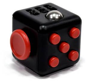 Кубік-антистрес Spinner Fidget Cube Чорний, фото 2