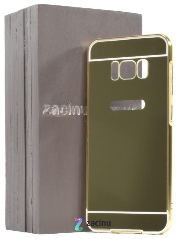 Чехол бампер для Samsung G950 S8 с акриловой вставкой Золотистый (311963)