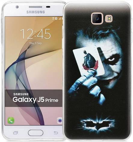 Чохол-накладка для Samsung G570F J5 Prime(2016) Legendary Heroes ser. TPU Джокер Чорний(D14984), фото 2