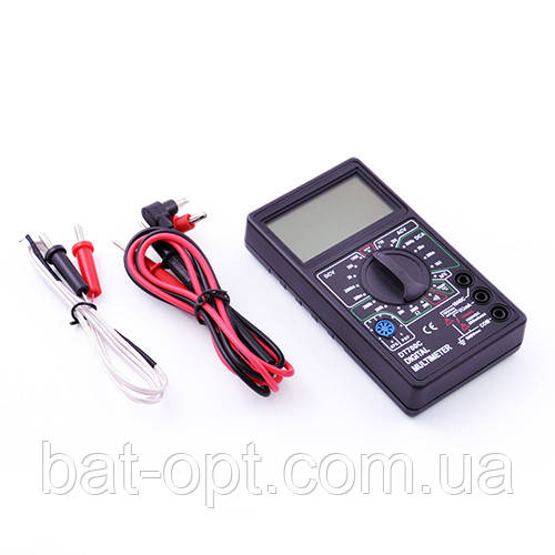 Мультиметр цифровой DT700C, щупы и термопара, тестер