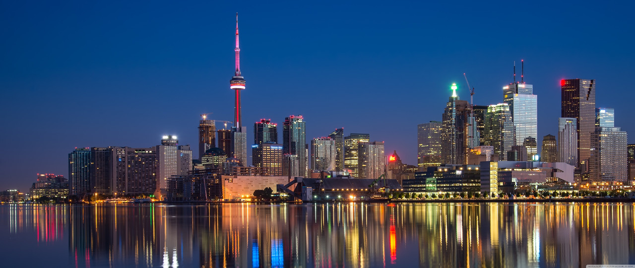 Обои Панорама ночного города