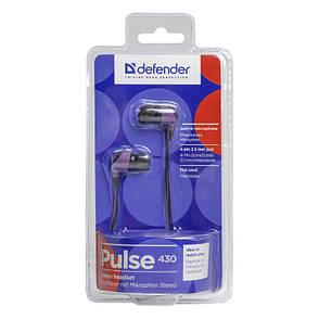 Наушники Defender Pulse 430 Black / Purple, фото 2