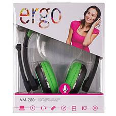 Наушники ERGO VM-280 Green, фото 2