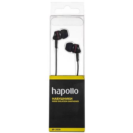 Наушники HAPOLLO EP-2020 Black, фото 2