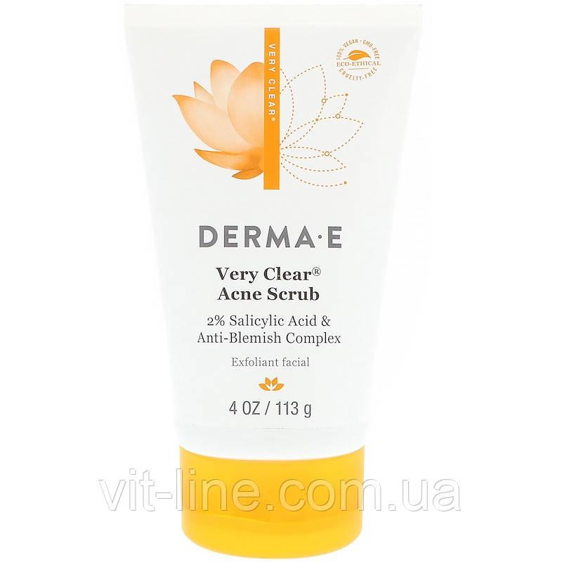 Derma E, Скраб Very Clear с салициловой кислотой  для проблемной кожи (113 г)