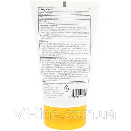 Derma E, Скраб Very Clear с салициловой кислотой  для проблемной кожи (113 г), фото 2