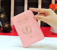 """Стильная обложка на паспорт """"Journey(Путешествие)"""" (розовая)"""