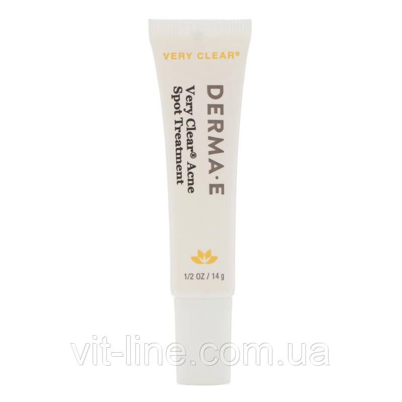 Derma E, Средство точечного действия Very Clear от угрей с комплексом для проблемной кожи,  (14 г)