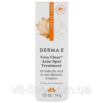 Derma E, Засіб точечної дії Very Clear від вугрів з комплексом для проблемної шкіри, (14 м), фото 2