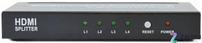 Сплиттер HDMI Spliter 1-вход - 4-выходы ST-0104B, фото 2