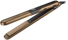 Выпрямитель (щипцы) для волос Maestro MR-255 с терморегулятором Керамические пластины Золотистый / Черный