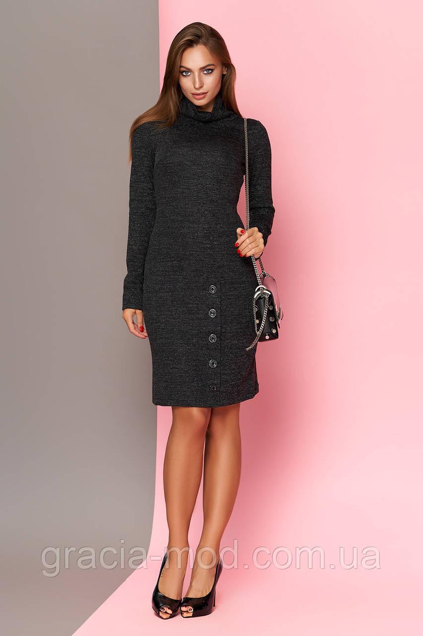 2cd5472a9b6 Женское трикотажное платье с люрексовой нитью