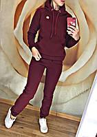 Женский спортивный костюм на флисе Luxe (42 44 46 48) (цвет бордо) СП