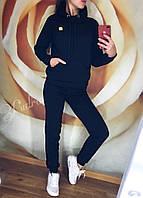Женский спортивный костюм на флисе Luxe (42 44 46 48) (цвет черный) СП