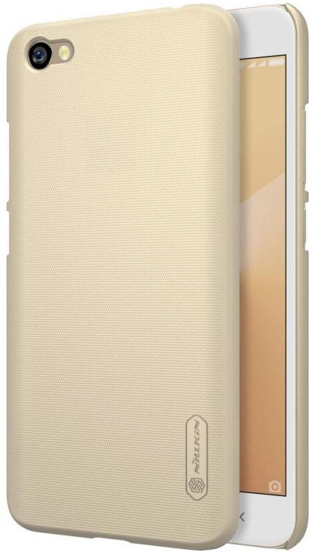 Чехол накладка Nillkin для Xiaomi Redmi Note 5A / Y1 Lite Matte ser. + Пленка Золотистый (146921)