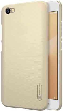 Чехол накладка Nillkin для Xiaomi Redmi Note 5A / Y1 Lite Matte ser. + Пленка Золотистый (146921), фото 2