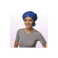 3040014 Шапочка для холодн.завивки, нейлон, с застежкой-липучкой, водонепрониц., синий