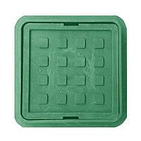 Люк квадратный MINI полимерпесчаный зелёный р.300/374