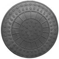 Люк полимерпесчаный чёрный ( 1т) р.690/750