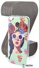 Чехол накладка Rucover для Xiaomi Redmi 4X TPU Девушка с цветами, фото 3