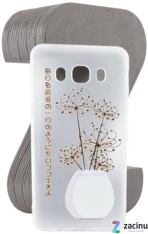 Чохол-накладка TPU для Samsung J510F J5(2016) Fashion ZOO ser. Квіти Прозорий/матовий, фото 2