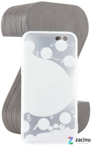 Чехол накладка TPU для iPhone 6 / 6S Fashion ZOO ser. Кит Прозрачный / матовый, фото 2