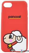 Чохол-накладка для iPhone 7/8 Lamb ser. Об'ємний Вівця Червоний