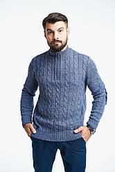 Мужской шерстяной теплый свитер