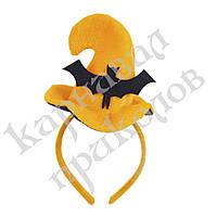 Шляпка на ободке Хэллоуин с Летучей мышью, фото 1
