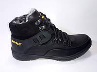 Мужские зимние кожаные ботинки на шнурках ТМ Rovigo