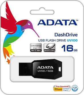 Флеш USB 2.0 ADATA UV100 16GB Черный (AUV100-16G-RBK), фото 2