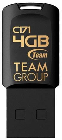 Флеш USB 2.0 Team C171 4GB Чорний (TC1714GB01), фото 2