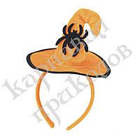 Шляпка на ободке Хэллоуин с Пауком, фото 1