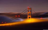 Обои Мост в огнях