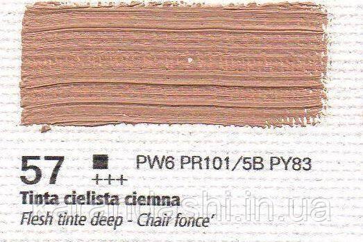 Масло RENESANS OILS FOR ART 57 тинта телесная темная 20мл, фото 2