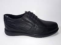 Мужские кожаные демисезонные туфли на шнурках ТМ Rovigo