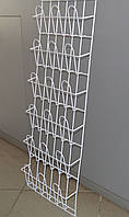 Торговая полка  стеллаж для полиграфической продукции навесная корзиночная 6 рядов по 3 ячейки, фото 1