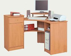 """Письменно-компьютерный стол """"Омега"""" фасады"""