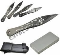 Набор метательных ножей 31791, 4 шт, 14 см, 35 грамм