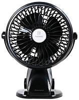 Портативний міні вентилятор Remax F2 З прищепкою Чорний