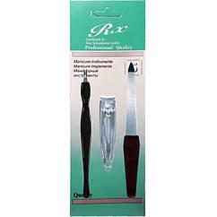 Набор Маникюрный RX Professional Quality на Планшете Пилка Книпсер Триммер Пушер