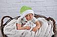 """Плюшевая шапочка """"Newborn"""", салатовая, фото 2"""