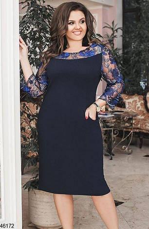 Платье женское нарядное больших размеров:48-58, фото 2