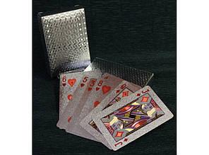 "Колода пластиковых карт ""Серебро"""