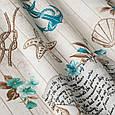 Красивая ткань для штор в морском стиле светло-коричневая, фото 2