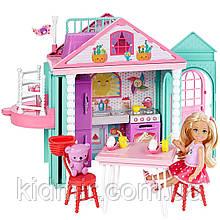 Кукла Барби клуб Челси Домик с лифтом Barbie Club Chelsea Clubhouse DWJ50