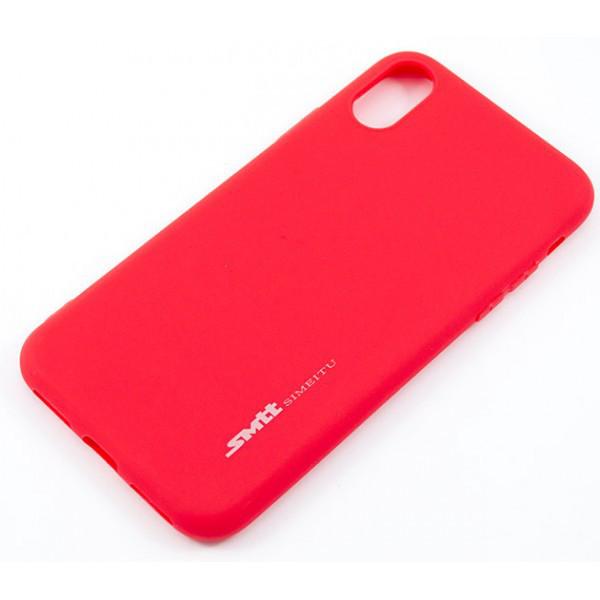 """Накладка iPhone Х """"Smitt"""" Красная"""