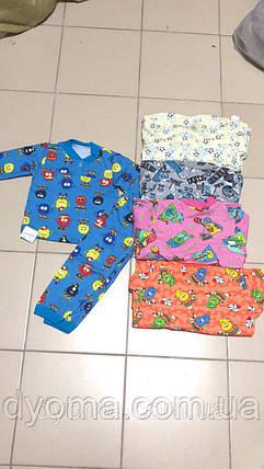 Детская трикотажная пижама (цветная начес), фото 2